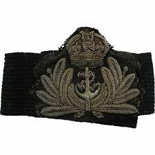 British Royal Navy Petty Officers Cloth Bullion Naval Cap Badge - PD48