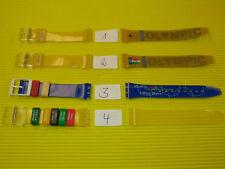 1 x ORIGINAL Swatch Armband 17mm zur AUSWAHL - NEU / NEW - OLYMPIC SPECIALS