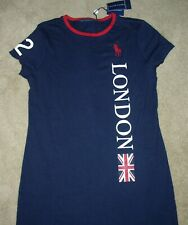 NWT Womens Ralph Lauren 2012 Paralympic London Union Jack Jersey Dress MEDIUM