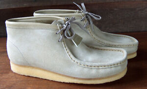 New MENS CLARKS WALLABEE BOOT SHOES NATURAL SIZE 11 M