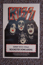 Kiss Concert tour poster 1975 Rochester Dome Arena