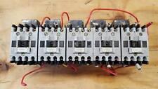 LOT OF 5 ALLEN BRADLEY 100-A09ND3 STARTERS ON DIN RAIL  W54