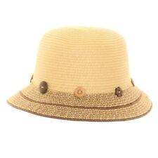 Chapeau cloche beige pour femme