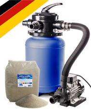 Sandfilteranlage bis 18 m³ + 25 kg Quarzsand 0,4- 0,8 mm Poolfilter Schwimmbad