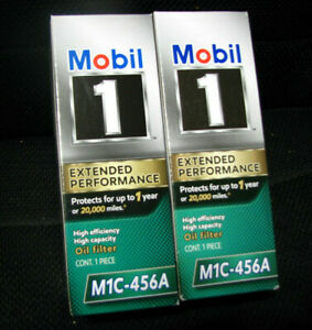 NEW (2) Mobil 1  M1C-456A Extended Performance High Efficiency Oil Filter