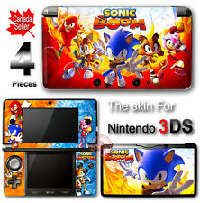 Sonic Boom Fire and Ice Hedgehog Skin Sticker Decal Cover for Original 3DS
