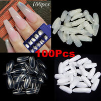100pcs Nails Half French False Nail Art Tips Set Acrylic UV Gel Manicure Tip
