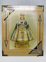 Antique Vintage Catholic Print Picture Infant Jesus of Prague Framed Litho TT20