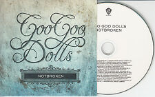 GOO GOO DOLLS Notbroken 2010 UK 1-trk promo test CD
