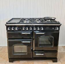 Rangemaster Deluxe 110CM Range Cooker in Black and Chrome