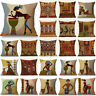 """Fashion Cartoon African Lady 18""""  Linen Cushion Covers Linen Throw Pillow Cases"""