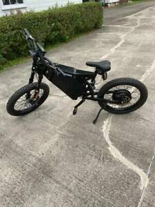 New Electric Stealth Bomber EBike 72v 5000w full DNM suspension 50mph Get it now