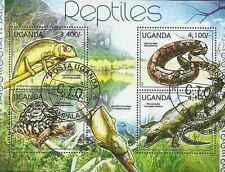 Timbres Reptiles Ouganda 2353/6 o année 2012 lot 16688 - cote : 17 €