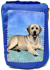 Labrador, Yellow Lying Foldable Tote Bag-Waterproof - Zippered Market Tote