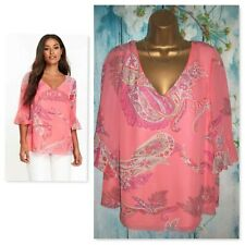 NEW WALLIS TOP SIZE 20, Gorgeous Pink Paisley Print flute Sleeve Blouse