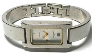 ANNE KLEIN Diamond Watch Rectangle Face Ladies Sleek Design No Numbers