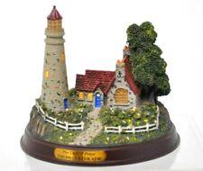 Thomas Kinkade The Light Of Peace Light Up Lighthouse Scene Figurine
