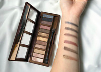 City Color Barely Exposed Eye Shadow Palette Day/Night 12 Colors Shimmer Powder
