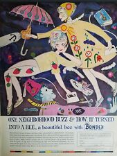 1961 bondex hot iron Fabrics Ross Paxton art vintage ad