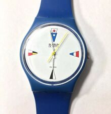 Vintage 1984 Swatch Watch 4 Flags GS100 Rare Discontinued Standard Gents Unisex