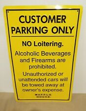 VINTAGE WAFFLE HOUSE CUSTOMER PARKING ONLY SIGN