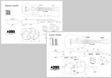 Ukulele Plans set of 2 - Soprano & Concert - Full Scale