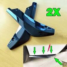 2pc Universal Car Rear Bumper Lip Protector Spoiler Splitter Diffuser Wrap Angle