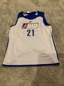 NBA D League Elite Mini-Camp Adidas Reversible Jersey Large #21 League Issued