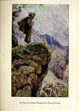 Franziskus -- Regel des hl. Franziskus von Monte Colombo -Coloriert - aus 1931