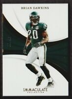 2018 Immaculate Collection #93 Brian Dawkins /99 Philadelphia Eagles