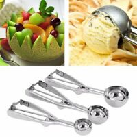 3Pcs 4/5/6cm Ice Cream Ball Scoop Stainless Steel Kitchen Cake Muffin Spoon
