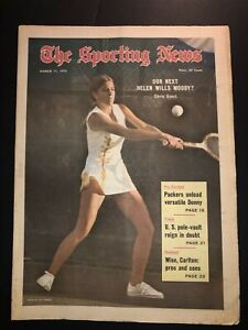 1972 Sporting News CHRIS EVERT 18 Year-Old No Label Next HELEN WILLS MOODY? N/L
