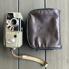 EUMIG ELECTRIC 8 CINE CAMERA CIRCA 1950s - IN BROWN LEATHER CASE.