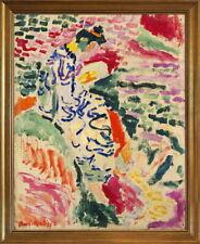 Classic Framed Henri Matisse La Japonaise Woman Giclee Canvas Print