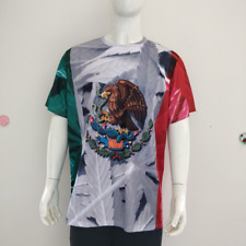Mexico Shirt with Mexcan Flag Colors and Mexican Eagle