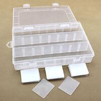 ALS_ 24 Grid Plastic Box Case Jewelry Bead Storage Container Craft Organizer Adv