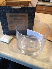 Partylite Blown Glass Clear Jar Holder NIB! P92789