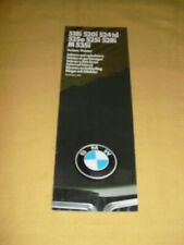 BMW 518i 520i 524td 525e... Farben/Polster Brochure 9 pages  Modelljahr 1985