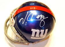 VICTOR CRUZ Giants Autographed Mini Helmet including BDS COA #2849