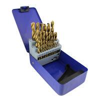 ABN | HSS Drill Bit Set Coated Titanium Drill Bit Set 29pc Drill Bits for Metal