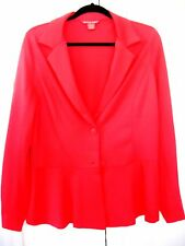 SUNNY LEIGH Size XL Macy's Professional Taylored Jacket-Red-Long sleeves