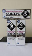 3 x Kobayashi Japan Charclean Charcoal Power Toothpaste 100g