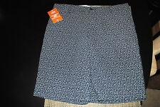 DOCKERS MENS CLASSIC FIT FLAT FRONT CASUAL SHORTS SIZE 36 NAVY/WHITE DESIGN NWT