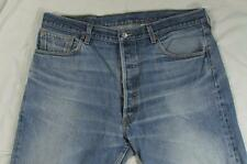 Levi 501 Button Fly Straight Leg Hige Faded Denim Jeans Tag 40x30 Measure 38x28