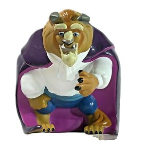 """Disney BEAST Piggy bank Vinyl Coin Bank Beauty and the Beast Collectible item 7"""""""