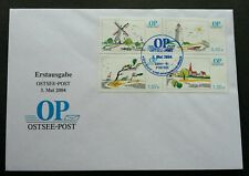Germany Private Post OP OSTSEE  2004 Windmill Lighthouse Beach Ship (FDC) *rare