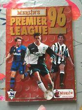 Merlin Premier League 96 Sticker Album Complete