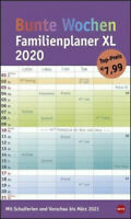 Bunte Wochen FamilienPlaner XL. Wandkalender 2020 NEU