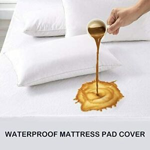 Waterproof Terry Towel Mattress Protector Cover Single Double King All Uk Sizes