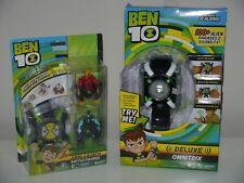 Ben 10 Deluxe Omnitrix Watch + Omni Launcher Watch & 2 Battle Figures _ BNIB _